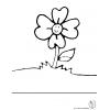 Disegno di Fiore nel Prato da colorare