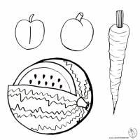 Disegno di Frutti da colorare