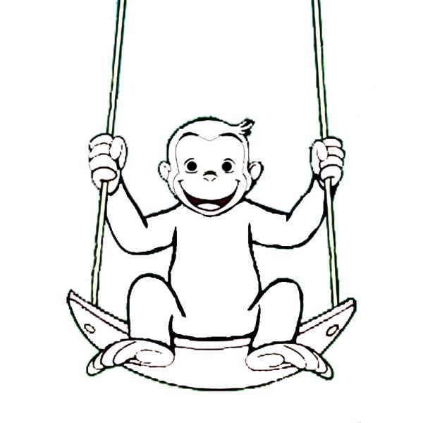 Disegno di george scimmia da colorare per bambini