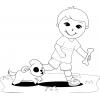 disegno di Giocare con gli Animali da colorare