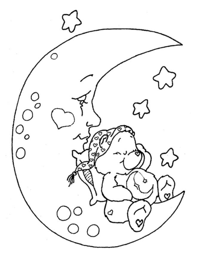 Stampa disegno di orsetto del cuore da colorare for Neonati da colorare e stampare