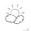 disegno di Il Sole e le Nuvole da colorare