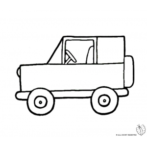 Disegno di jeep fuoristrada da colorare per bambini gratis for Jeep da colorare
