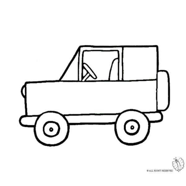 Disegno di Jeep Fuoristrada da colorare