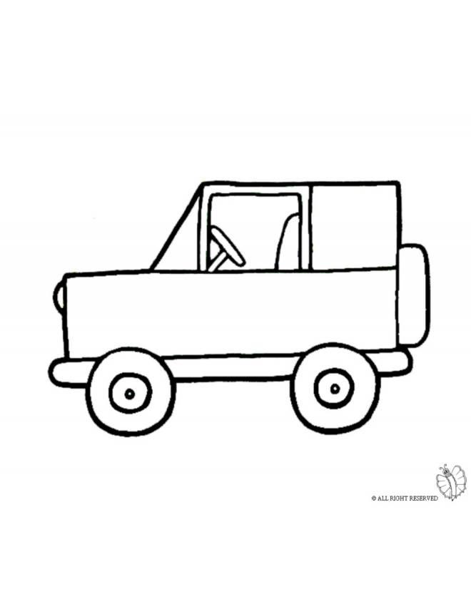 Disegno di jeep fuoristrada da colorare per bambini
