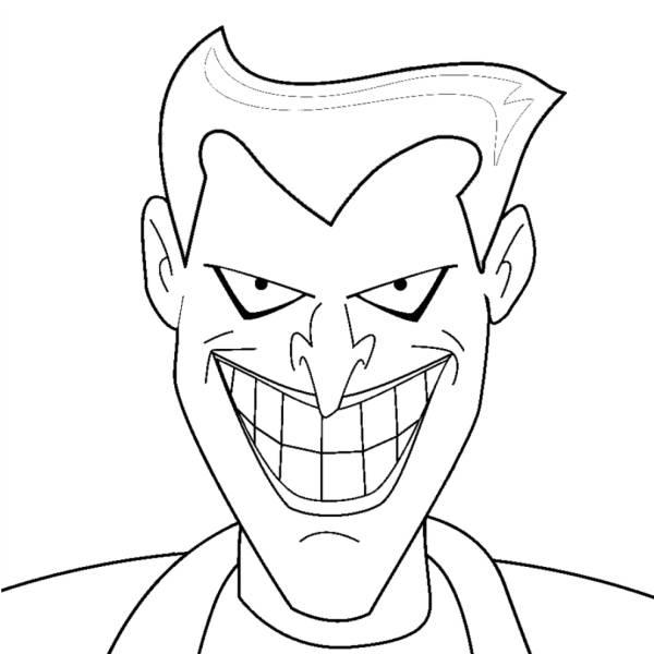 Disegno di joker da colorare per bambini