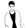Disegno di Justin Bieber da colorare