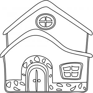 Disegno di la casa da colorare per bambini gratis for Disegnare casa on line