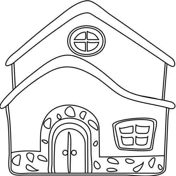 disegno di la casa da colorare per bambini