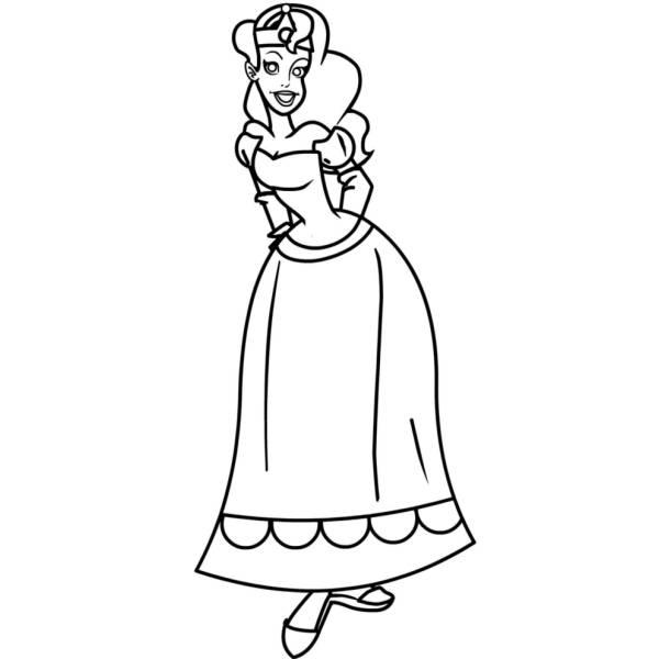 Disegno di Principessina da colorare