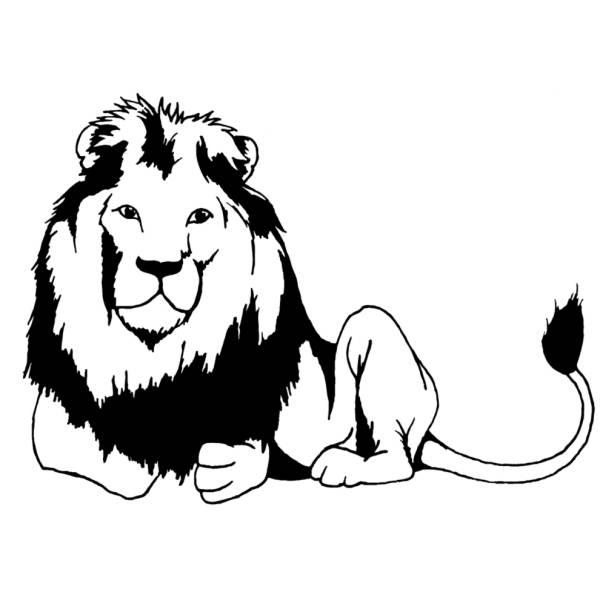 Disegno di Leone che Riposa da colorare