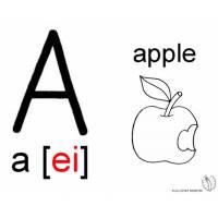 disegno di Lettera A Alfabeto Inglese da colorare