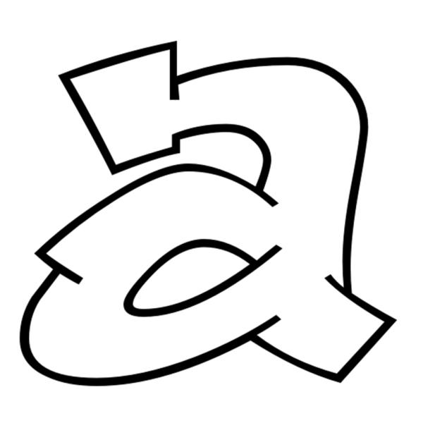 Disegno di Lettera a da colorare
