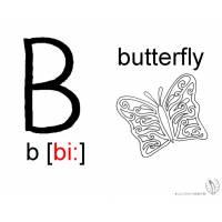 Disegno di Lettera B Alfabeto Inglese da colorare