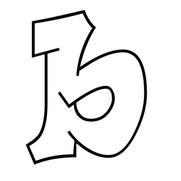 Disegno di lettera b da colorare per bambini - Lettere animali da stampare ...