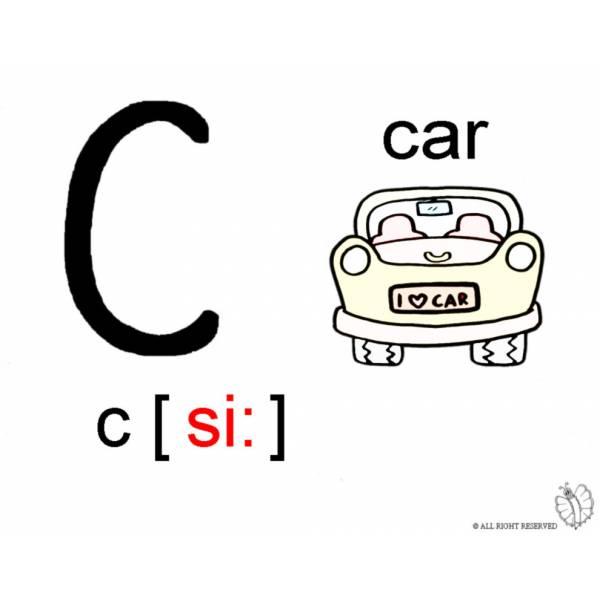 Disegno Di Lettera C Alfabeto Inglese Da Colorare Per Bambini