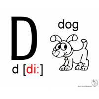 disegno di Lettera D Alfabeto Inglese da colorare