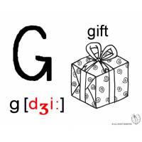 Disegno di Lettera G Alfabeto Inglese da colorare