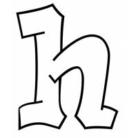 Disegno di Lettera h da colorare