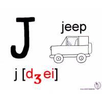 Disegno di Lettera J Alfabeto Inglese da colorare