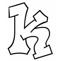 Disegno di Lettera k da colorare