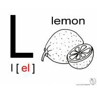 disegno di Lettera L Alfabeto Inglese da colorare