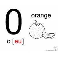 Disegno di Lettera O Alfabeto Inglese da colorare