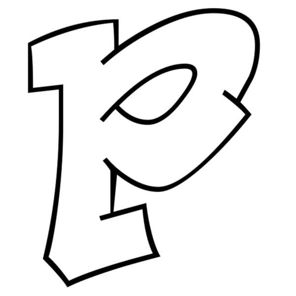 Disegno di Lettera p da colorare