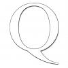 Disegno di Lettera Q da colorare