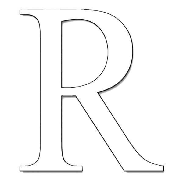 Disegno Di Lettera R Da Colorare Per Bambini
