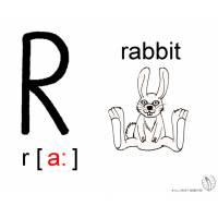 Disegno di Lettera R Alfabeto Inglese da colorare