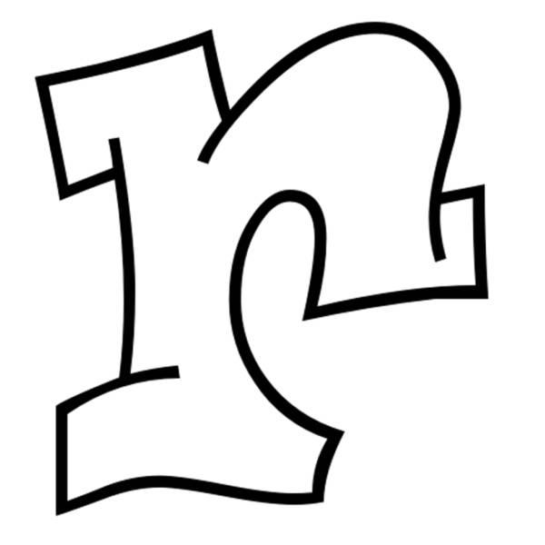 Lettere Alfabeto Corsivo Minuscolo: Disegno Di Lettera R Da Colorare Per Bambini