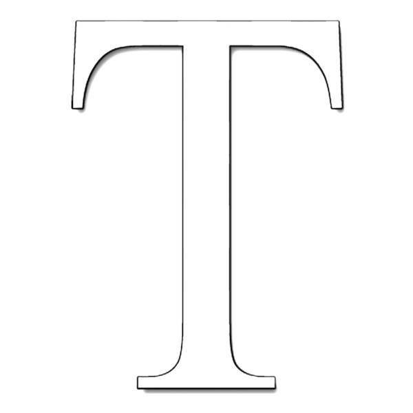 Disegno di Lettera T da colorare