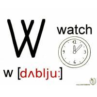 disegno di Lettera W Alfabeto Inglese da colorare