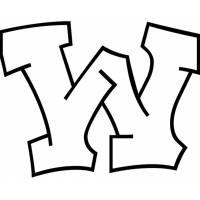 disegno di Lettera w da colorare