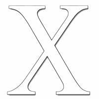 disegno di Lettera X da colorare