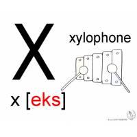 Disegno di Lettera X Alfabeto Inglese da colorare