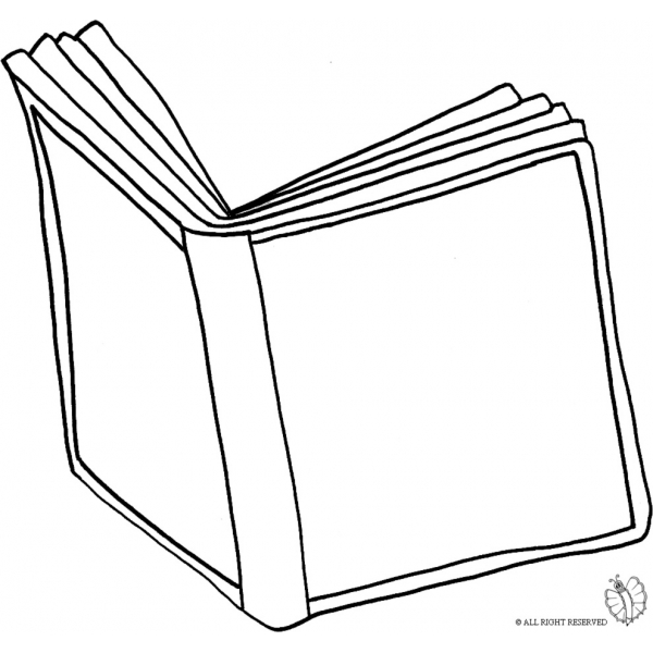 Disegno di libro aperto da colorare per bambini - Libro da colorare elefante libro ...