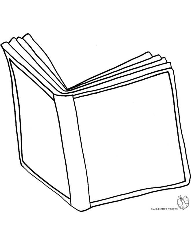 Stampa disegno di libro aperto da colorare for Libri da acquistare on line