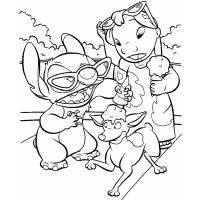 Disegno di Lilo & Stitch da colorare