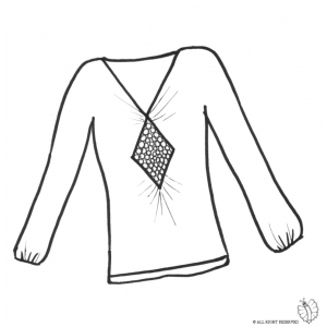 Disegno di maglietta donna da colorare per bambini gratis for Disegno bambina da colorare