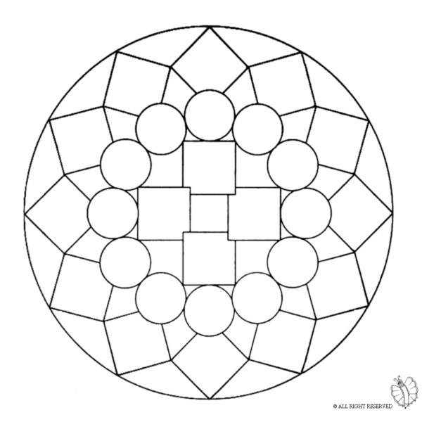 Disegno di Mandala 1 da colorare