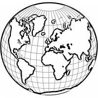 disegno di Mondo da colorare
