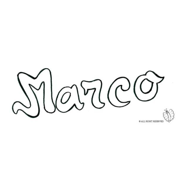 Disegno di Marco da colorare