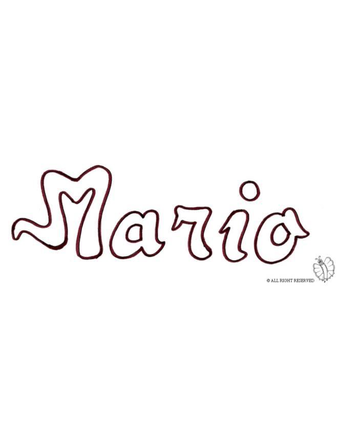 disegno di Mario da colorare