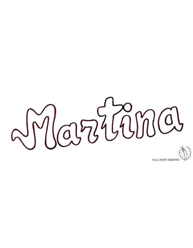 disegno di Martina da colorare