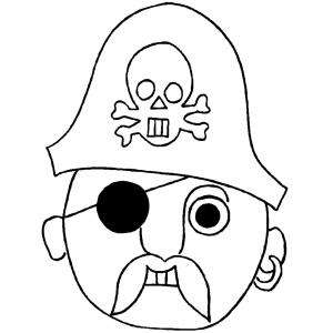 Disegno di Maschera del Pirata da colorare