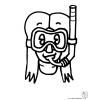 disegno di Maschera Subacquea da colorare