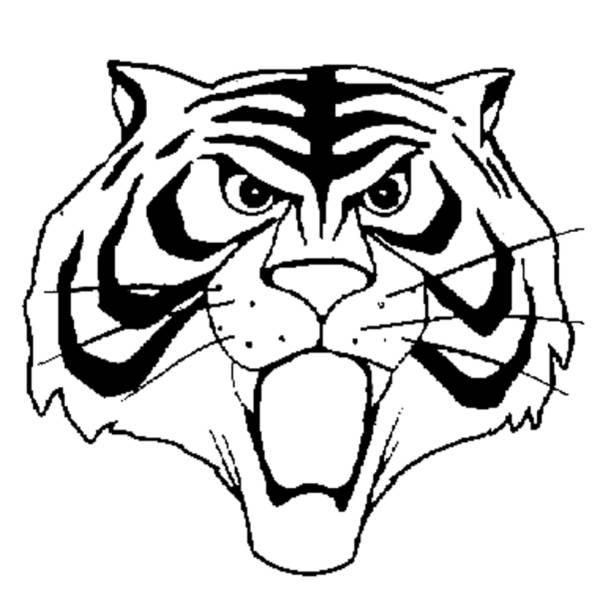 Disegno di maschera uomo tigre da colorare per bambini for Disegni da colorare uomo tigre