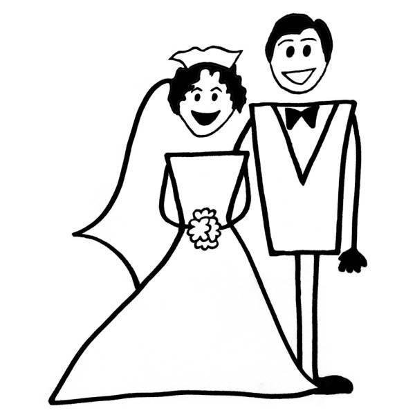 Disegno di Matrimonio da colorare